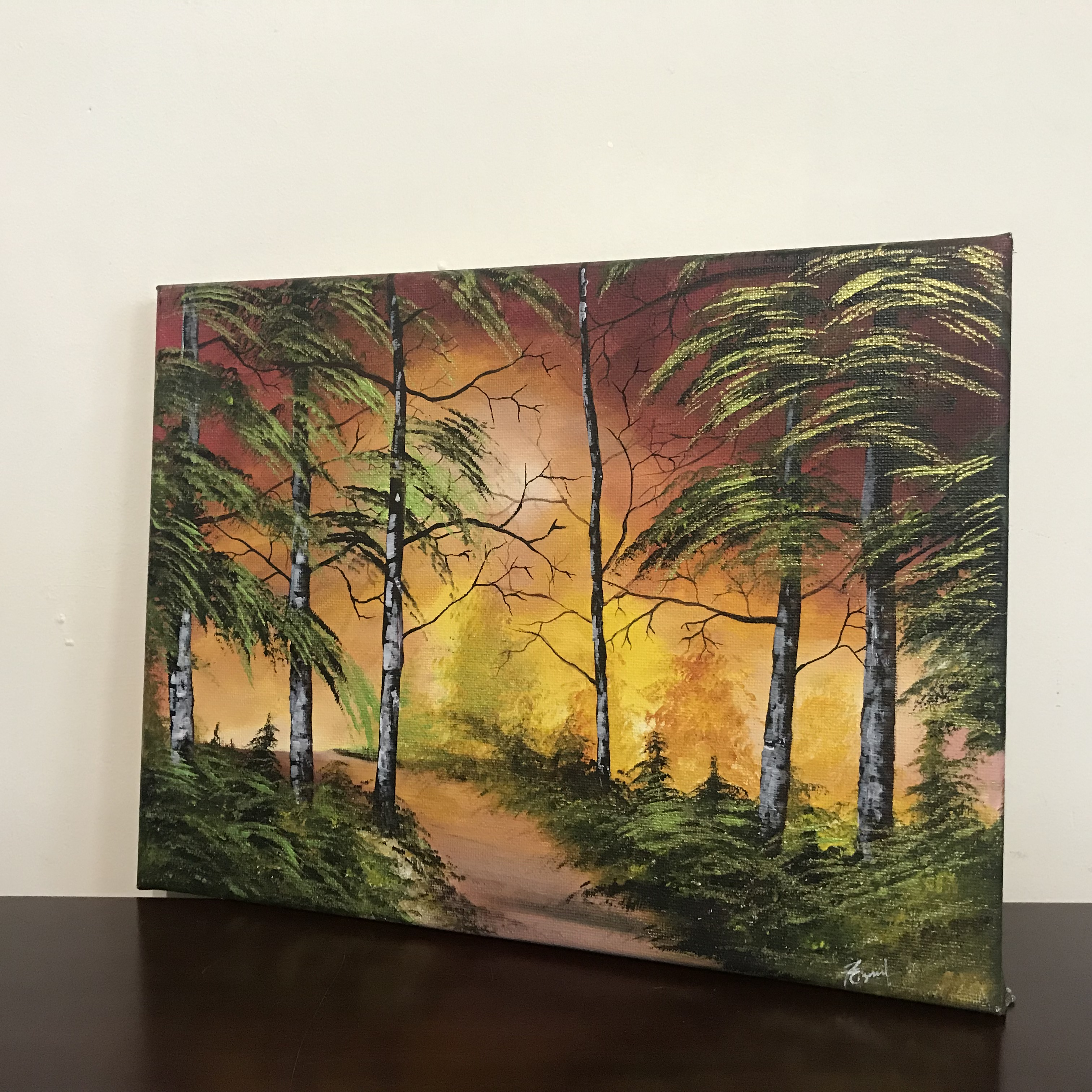 ed4cc2cb0 Buy PaintingsSun set landscape painting-Buy Paintings-Rizna Munsif